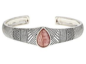 Pink Rhodochrosite Sterling Silver Cuff Bracelet
