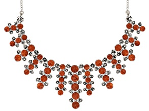 Red Sponge Coral Sterling Silver Necklace