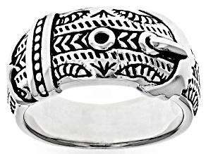Sterling Silver Belt Band Ring