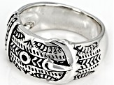 Sterling Silver Belt Band Ring