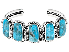 Custom Shape Turquoise Sterling Silver Bracelet