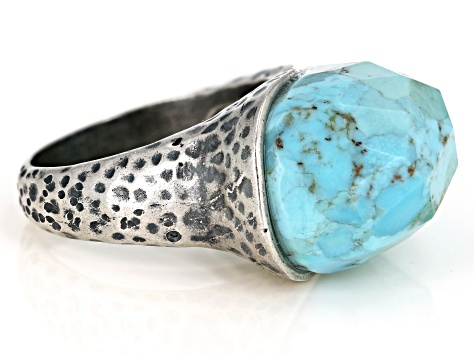 Mohave Kingman Turquoise Sterling Silver Ring