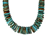 Graduated Turquoise Rhodium Over Sterling Silver Necklace Strand
