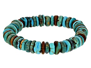 Rondelle Turquoise Stretch Bracelet
