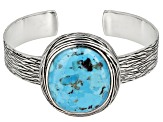 Oval Cabochon Turquoise Sterling Silver Cuff Bracelet