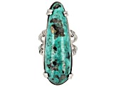 Free-form Turquoise Sterling Silver Statement Ring