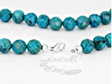 Turquoise Bead Strand Sterling Silver Necklace