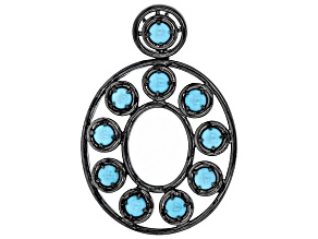 Turquoise Sleeping Beauty Black Rhodium Over Silver Pendant