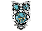 Turquoise Sterling Silver Owl Ring