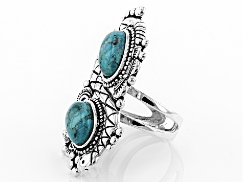 Turquoise Silver Snake Ring