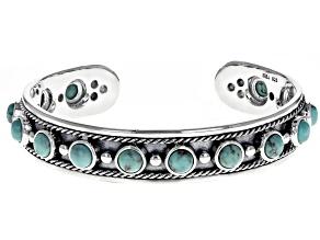 Kingman Turquoise Silver Cuff Bracelet