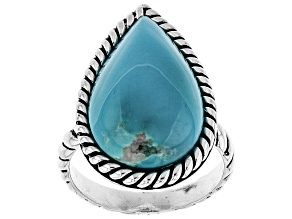 Blue Kingman Turquoise Sterling Silver ring