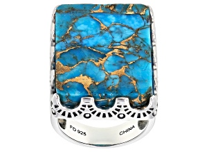 Mohave Kingman Turquoise Silver Ring