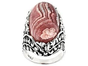 Rhodochrosite Sterling Silver Ring