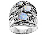 Lab Created Opal Sterling Silver Ring
