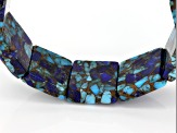 Southwest Style By JTV™ Blended Turquoise And Lapis Lazuli Stretch Bracelet