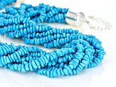 Turquoise Sleeping Beauty 8-Strand Silver Necklace