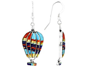 Multi-Gem Sterling Silver Hot Air Balloon Earrings.