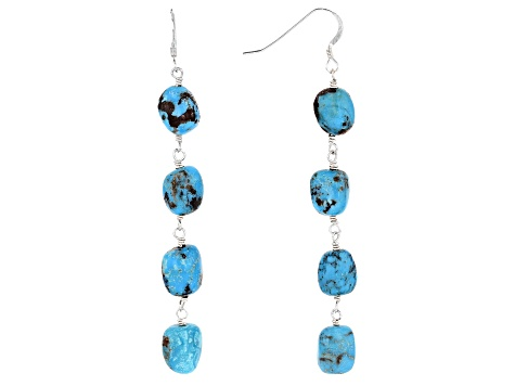 Southwest Style By JTV™ Turquoise Silver Earrings