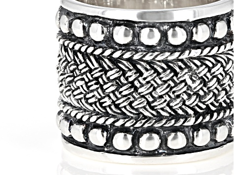 Southwest Style By JTV™ Silver Rope Design Ring