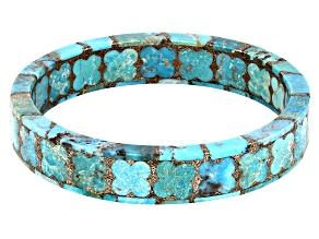 Turquoise Matrix Bangle Bracelet