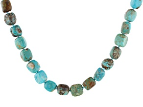 Mix Turquoise Rhodium Over Sterling Silver Knotted Necklace
