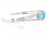 Sleeping Beauty Turquoise Rhodium Over Silver Cuff Bracelet