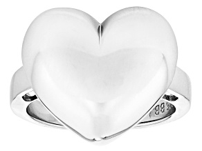 Heart Shape Sterling Silver Ring