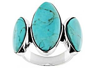 Turquoise Kingman Silver Ring