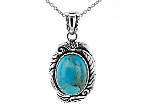 Turquoise Rhodium Over Silver Enhancer With 18