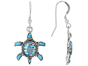 Turquoise Sterling Silver Turtle Earrings