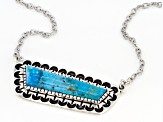 Turquoise Rhodium Over Silver Necklace