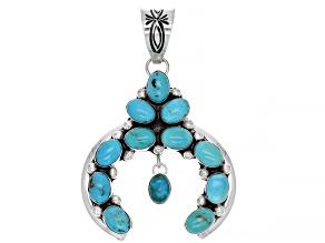 Kingman Turquoise Sterling Silver Naja Pendant