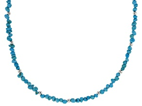 Sleeping Beauty Turquoise Sterling Silver Choker Necklace