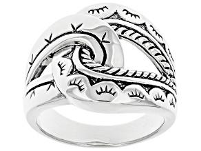 Oxidized Rhodium Over Sterling Silver Knot Ring