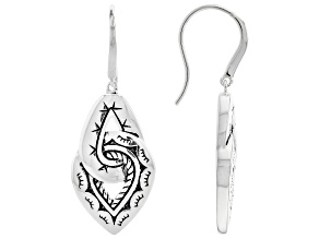 Oxidized Rhodium Over Sterling Silver Knot Earrings