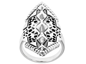 Rhodium over Sterling Silver Statement Ring