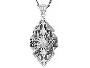 """Rhodium over Sterling Silver Pendant with 18"""" Rope Chain"""