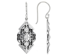 Rhodium over Sterling Silver Statement Earrings