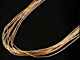 Liquid Silver 10 Strand 18k Rose Gold Over Silver Necklace 20 Inch