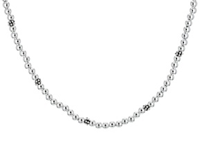 Sterling Silver Bead Strand Necklace