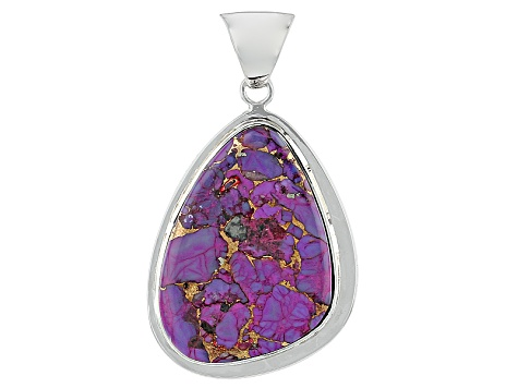 Purple Turquoise Sterling Silver Pendant