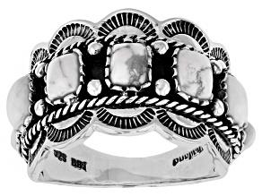 White Magnesite Sterling Silver Ring.