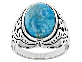 Blue Turquoise Silver Thunderbird Ring