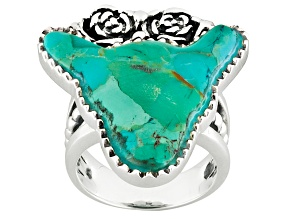 Blue Turquoise Sterling Silver Bull Ring