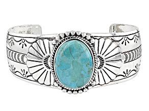 Turquoise Kingman Sterling Silver Cuff Bracelet