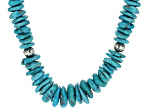 Turquoise  Sleeping Beauty Sterling Silver Necklace.