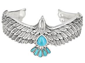 Blue Turquoise Sterling Silver Eagle Bracelet