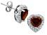Garnet And Topaz Sterling Silver Stud Earrings 1.60ctw