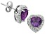 Amethyst And Topaz Sterling Silver Stud Earrings 1.28ctw